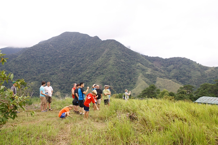 The group checking out BCC's 200 hectres of land to clear and plant in the upcoming months